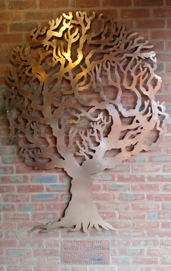 Copper Love Tree at the staffordshire wildlife headquarters