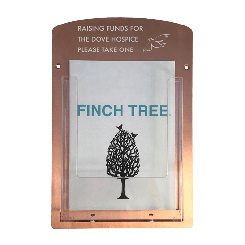 engravable copper plaque from Metallic Garden
