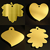 brass leaf plaques in gold, silver & bronze colours by Metallic Garden