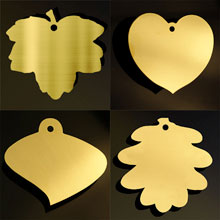 Brass leaf plaques for fundraising trees
