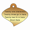 engraved curved leaf plaque from Metallic Garden