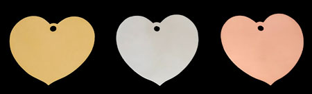 brass copper ans stainless steel heart leaf plaque