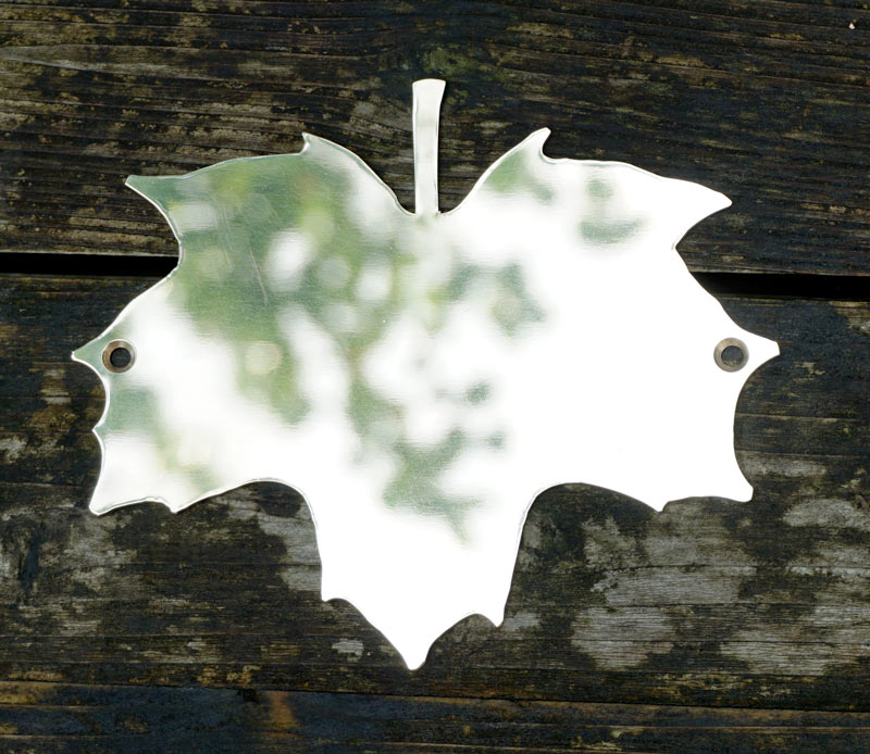 Norway Maple brass leaf plaque