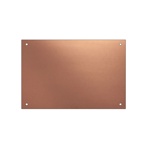 Rectangular engraved copper plaque part of the Finch Tree range by Metallic Garden