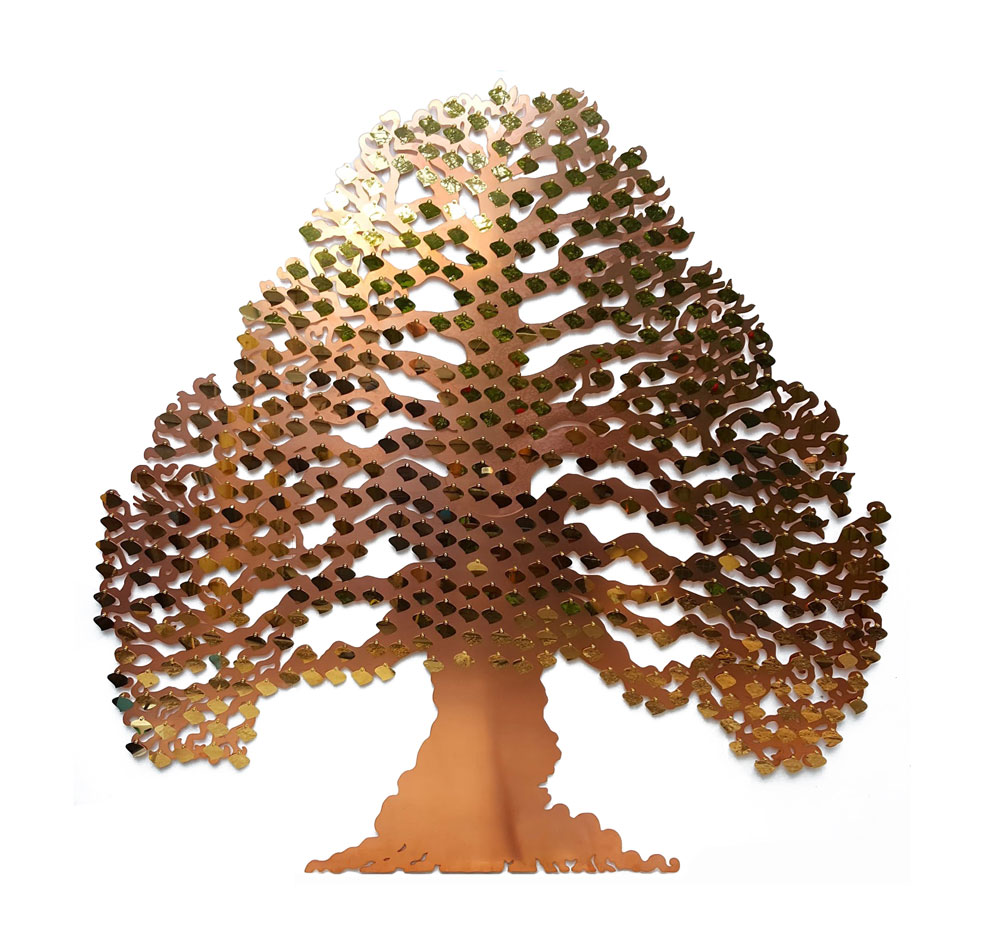 Eternal Tree. Copper donor recognition, fundraising or commemorative tree by Bronwen Glazzard