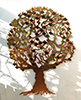 Copper Donor Tree by Metallic Garden