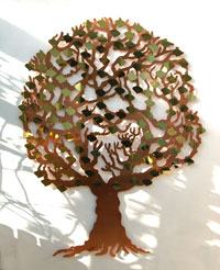 copper love tree, for fundraising and donor recognition